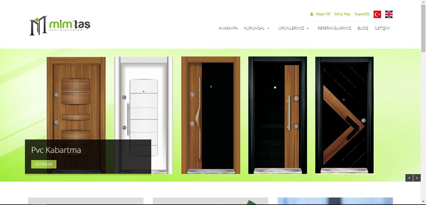 MİMTAŞ Kapı Sistemleri Web Sitesi Yayında